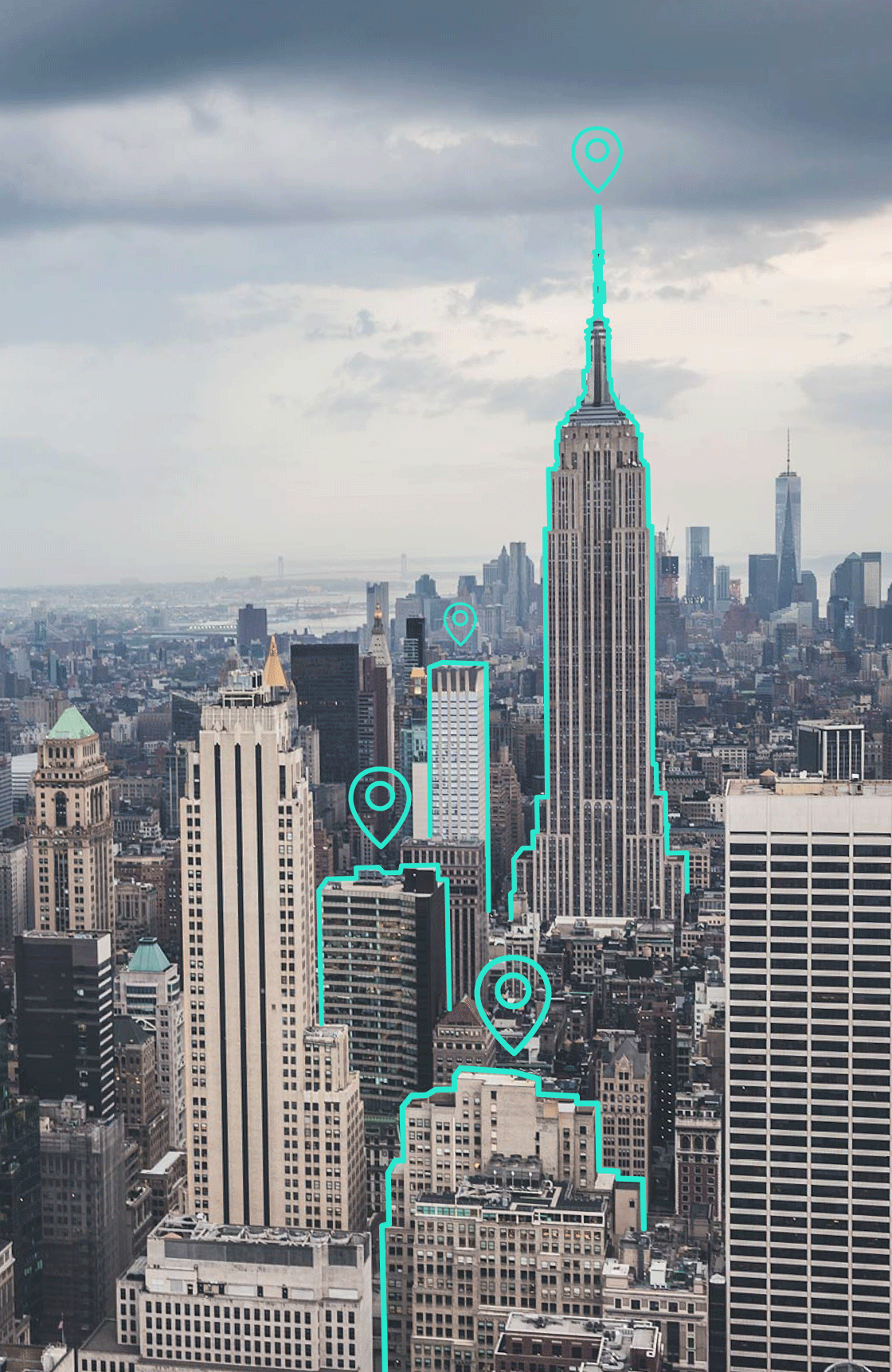 Manhattan NYC with Augmented Reality